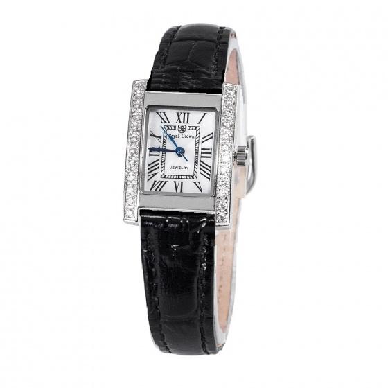 Đồng hồ nữ chính hãng Royal Crown 6306 dây da đen