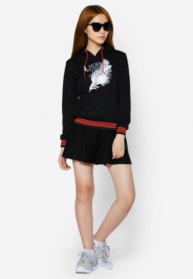 Áo khoác nữ cổ chui hoodie Phúc An 4018