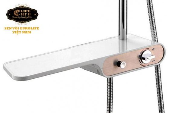 Bộ sen cây tắm đứng nóng lạnh Eurolife EL-S911 (trắng - hồng)