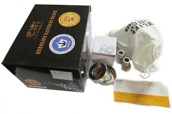 Bộ vòi sen nóng lạnh Inox SUS 304 Eurolife EL-1101 (trắng vàng)