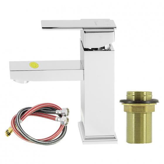 Vòi lavabo nóng lạnh đồng thau nguyên chất 20cm Eurover-4101 NT0415