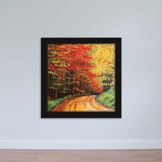 """Tranh phong cảnh """"Con Đường Mùa Thu"""" tranh treo tường phòng khách W1934"""