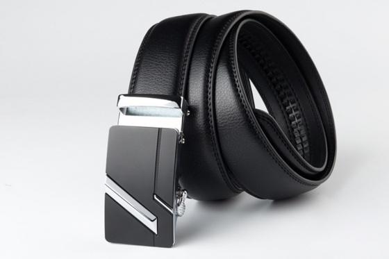 Dây nịt- thắt lưng nam da cao cấp khóa tự động cao cấp Manzo 201.2( tặng móc khóa da bò thật)