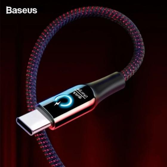 Cáp sạc dù tự ngắt Baseus Type -C hỗ trợ sạc nhanh 3.0