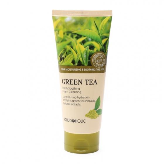 Sữa rửa mặt trà xanh Foodaholic Green Tea Fresh Soothing Foam Cleansing 180ml
