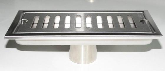 Hố ga thoát sàn Inox SUS 304 10X20cm Eurolife EL-HG1020 (trắng bạc)