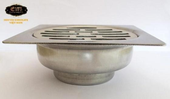 Hố ga Inox SUS 304,10x10cm Eurolife EL-X34 (trắng bạc)