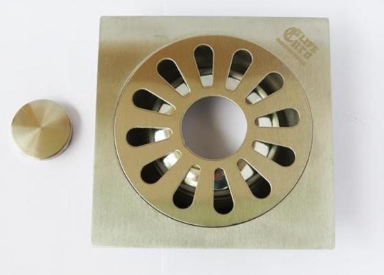 Hố ga thoát sàn inox 10x10cm Eurolife EL-X11 (trắng bạc)