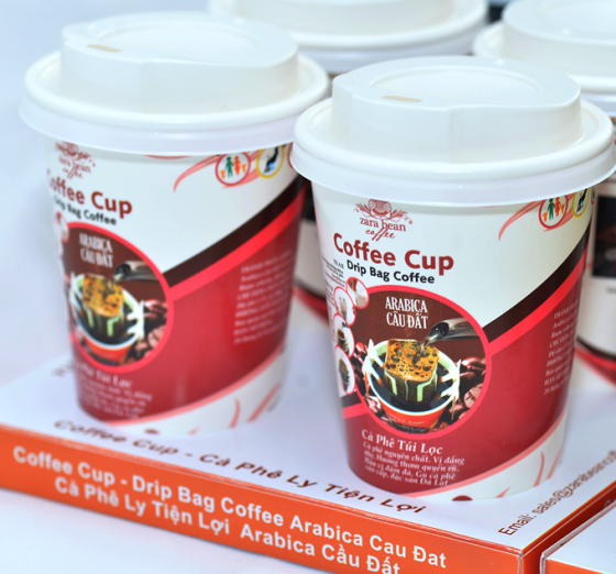 Cà phê túi lọc ly Arabica cầu đất ( khay 4 ly x 16g)