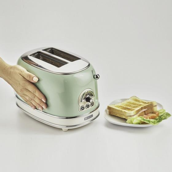 Nướng bánh mỳ 2 khay (Màu xanh lá cây) Ariete  MOD.0155-04