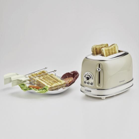 Nướng bánh mỳ 2 khay (Màu kem) Ariete MOD. 0155/03