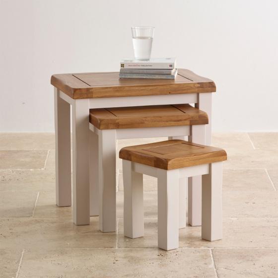 Bộ bàn xếp lồng Sintra gỗ sồi - Cozino
