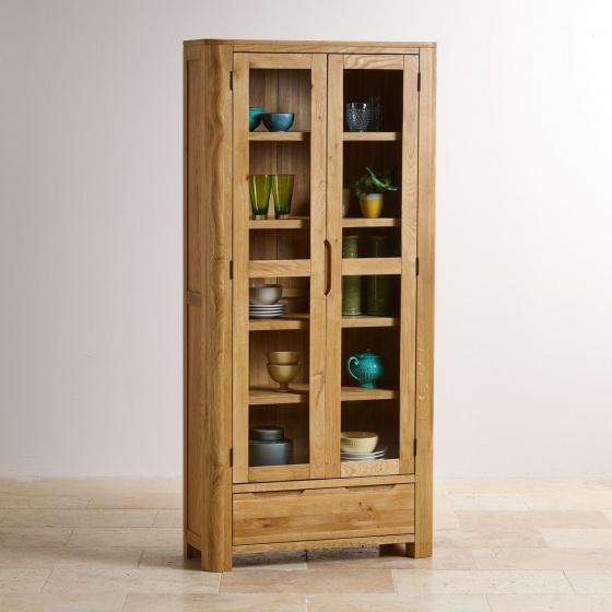 Tủ trưng bày Emley gỗ sồi 1m – Cozino