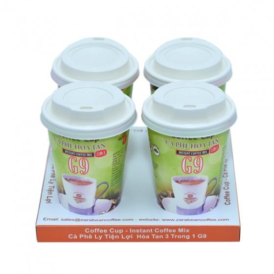cà phê hòa tan 3in1-G9 ly giấy ( khay 4 ly x 16g)