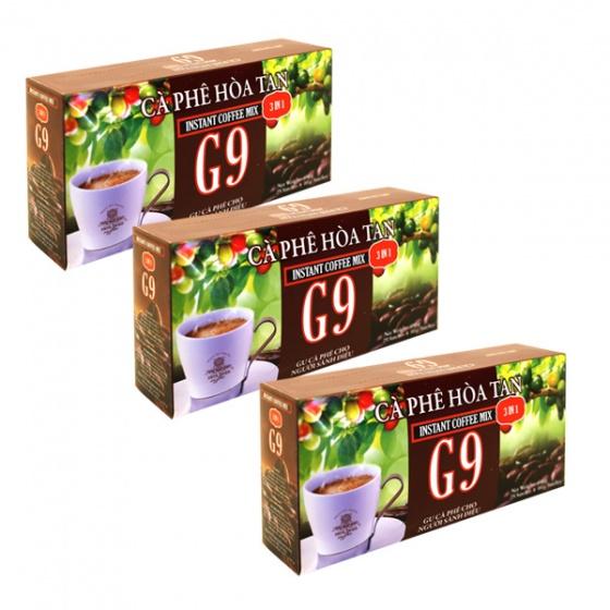 Cà phê hòa tan 3in1 - G9 (3 hộp 25 gói x 16g)
