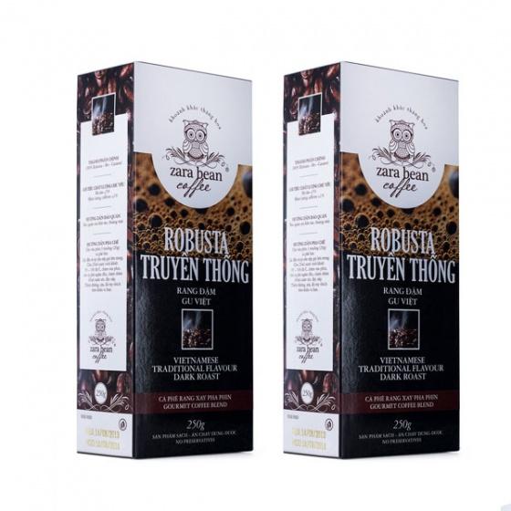 Cà phê pha phin Robusta Truyền thống (2 hộp x 250g)