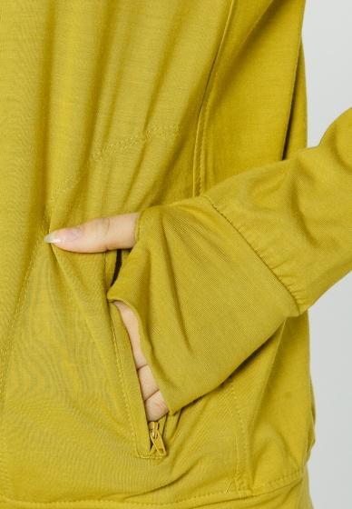 Áo khoác nữ slim túi mổ dây kéo Phúc An 4040