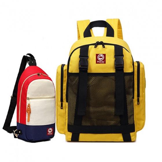 Combo ba lô Hàn Quốc HR234 và túi đeo chéo phối màu Haras HR203