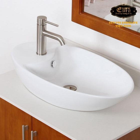 Vòi lavabo lạnh Inox SUS 304 Eurolife EL-T018 (trắng vàng )