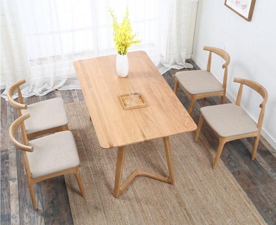 Bộ bàn ăn Bull màu tự nhiên 4 ghế