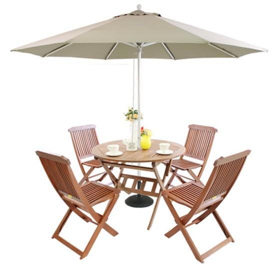 Bộ bàn Punai 4 ghế xếp Paradiso - IBIE