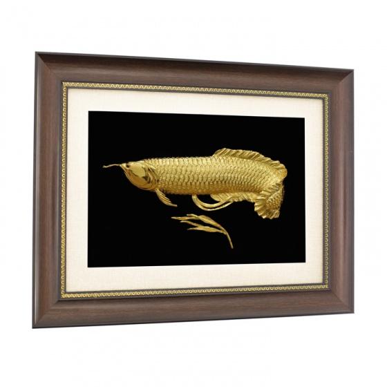 Tranh cá rồng phong thuỷ mạ vàng 24K