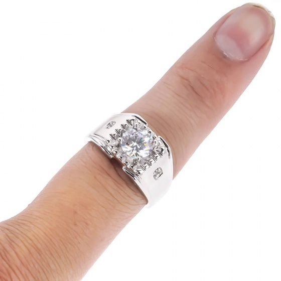 Nhẫn nam phong thủy đính đá màu - 93