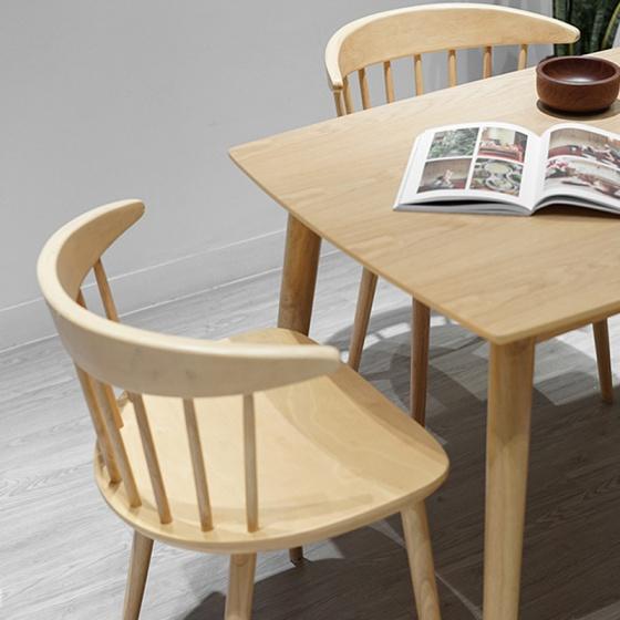 Bộ bàn ăn Lyla 4 ghế màu tự nhiên