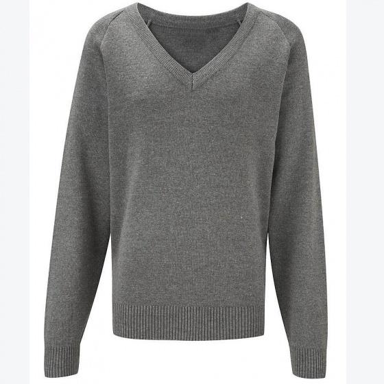 Áo len thời trang nam chuẩn Hàn tay dài cổ tim - 475 (xám)