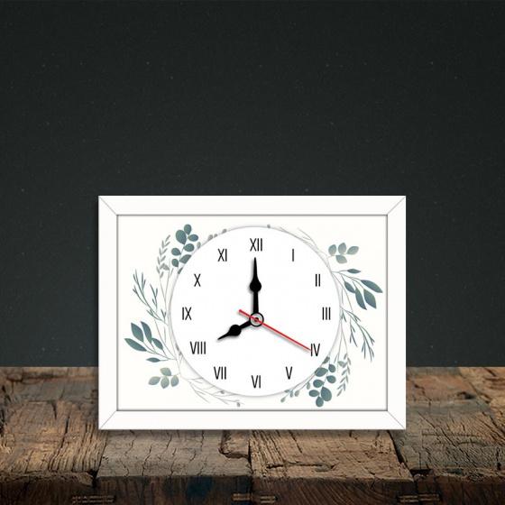 Tranh đồng hồ để bàn hoa lá - đồng hồ tiện ích đơn giản WC090