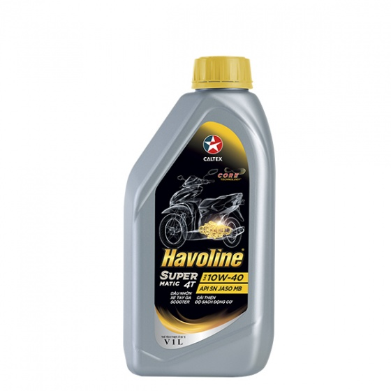 Dầu nhớt xe tay ga Caltex Havoline SuperMatic 4T SAE 10W-40 1L