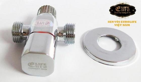 Van T chia giảm áp và khóa 2 đường nước Eurolife EL-X20 (trắng bạc)