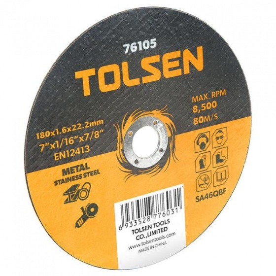 Đĩa cắt sắt & inox 115mm Tolsen 76102