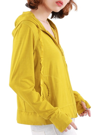 Áo khoác nữ xỏ ngón, chất thun lạnh, có túi trong Phúc An 4034
