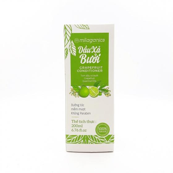 Dầu xả bưởi - phục hồi tóc hư tổn, nuôi dưỡng tóc mềm mượt tự nhiên Milaganics (200ml / chai)