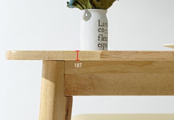 Bàn Morina gỗ cao su nhiều màu 1m4