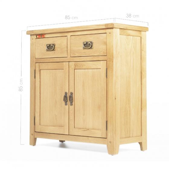 Tủ chén thấp 2 cánh 2 ngăn IBIE Rustic gỗ sồi 1m