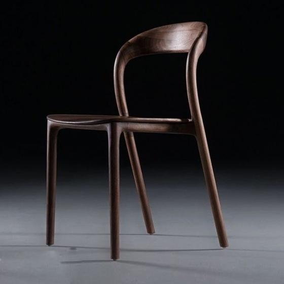 Ghế Neva không tay mặt gỗ màu walnut