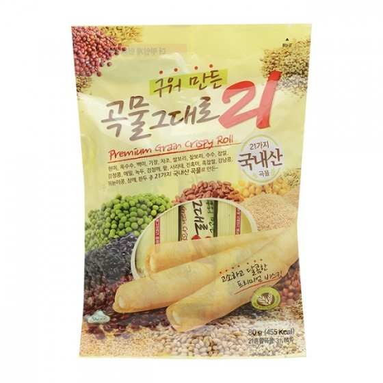 Bánh 21 vị ngũ cốc Gaemi Food Hàn Quốc 80g/gói - Combo 10 gói