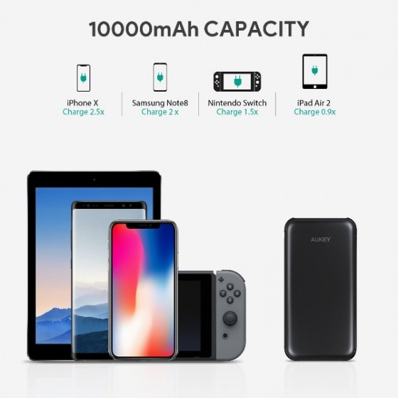 Pin sạc dự phòng aukey  Pb-y13 10000MAH – quick charge 3.0 USB-C PD