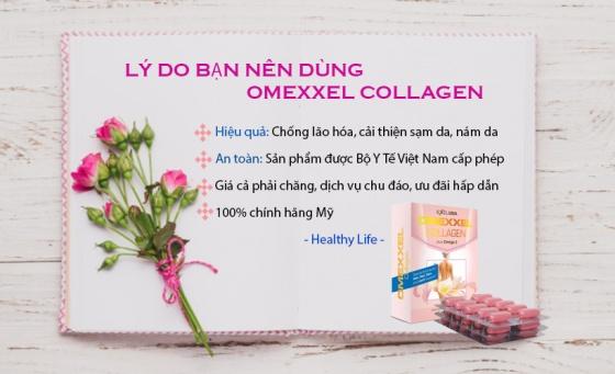 Combo 2 hộp  viên uống bổ sung Collagen, chống lão hóa Omexxel Collagen (60 viên) - Xuất xứ Mỹ