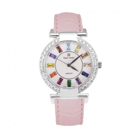 Đồng hồ nữ chính hãng Royal Crown 4604 dây da hồng