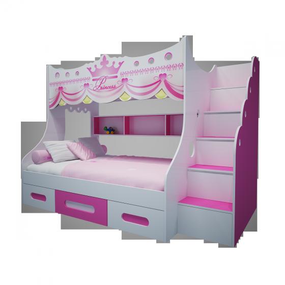 Giường tầng trẻ em công chúa GT01 (Trên 1m/dưới 1,2m)