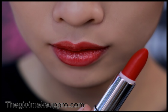 Son thỏi bóng cao cấp Studiomakeup color luster gloss lipstick SBL-06 Dazzling Red