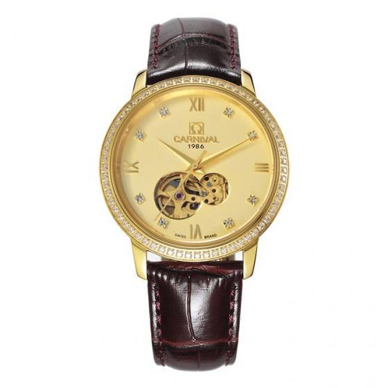 Đồng hồ nam dây da Carnival G50803.303.333