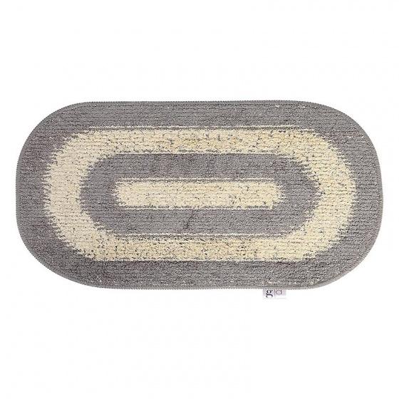 Thảm chùi chân cotton dệt Grand 40 x 60 cm - Ghi