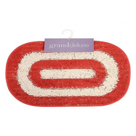 Thảm chùi chân cotton dệt Grand 40 x 60 cm - Đỏ