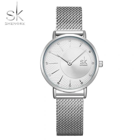 Đồng hồ nữ chính hãng Shengke UK K0093L-01 Bạc