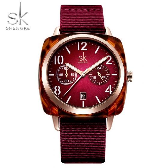 Đồng hồ nữ chính hãng Shengke UK K0097L-01 Đỏ
