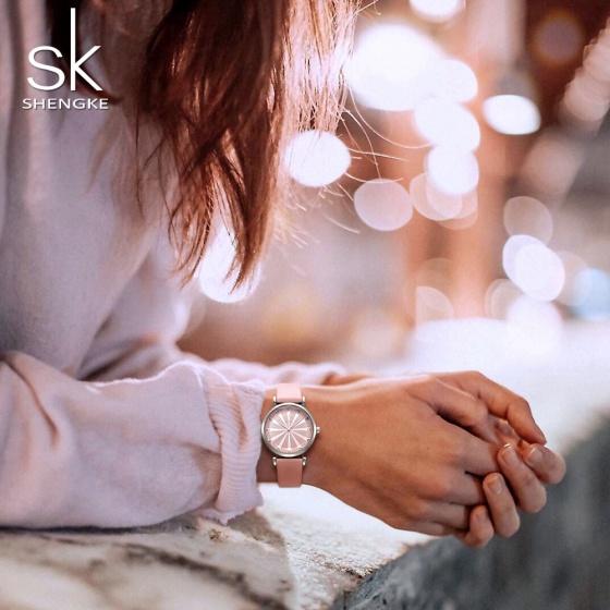 Đồng hồ nữ chính hãng Shengke Korea K0099L-01 hồng